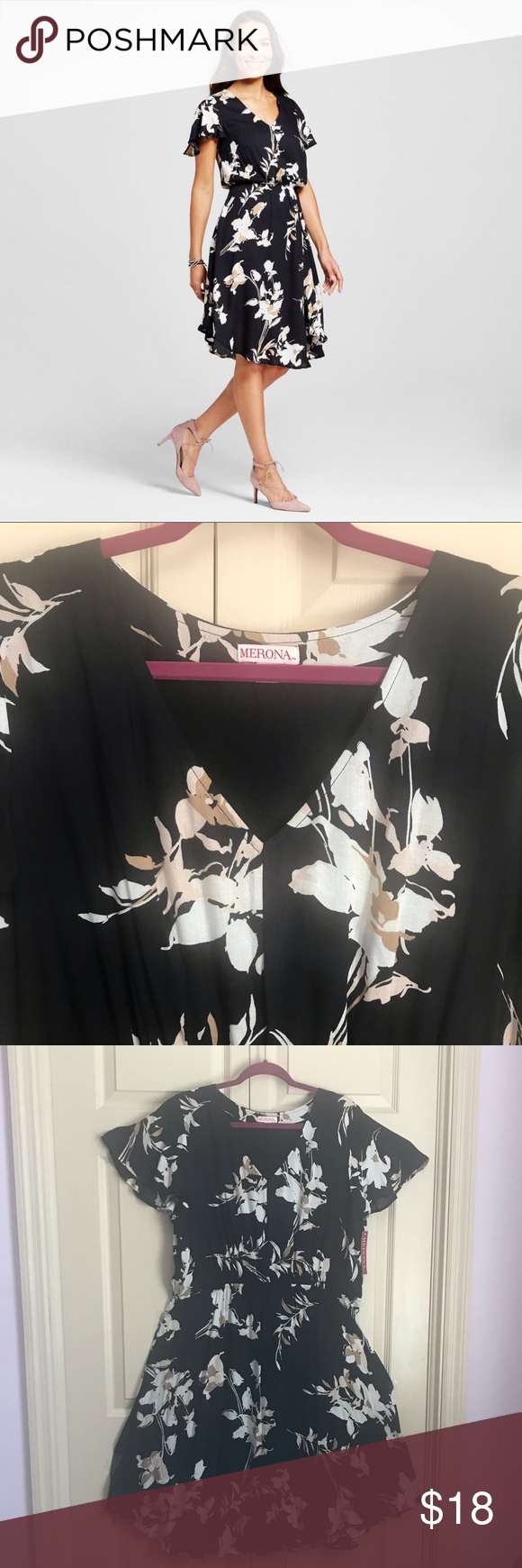 Brand New Black Floral Dress From Target Floral Dress Black Floral Dress Black Floral [ 1740 x 580 Pixel ]