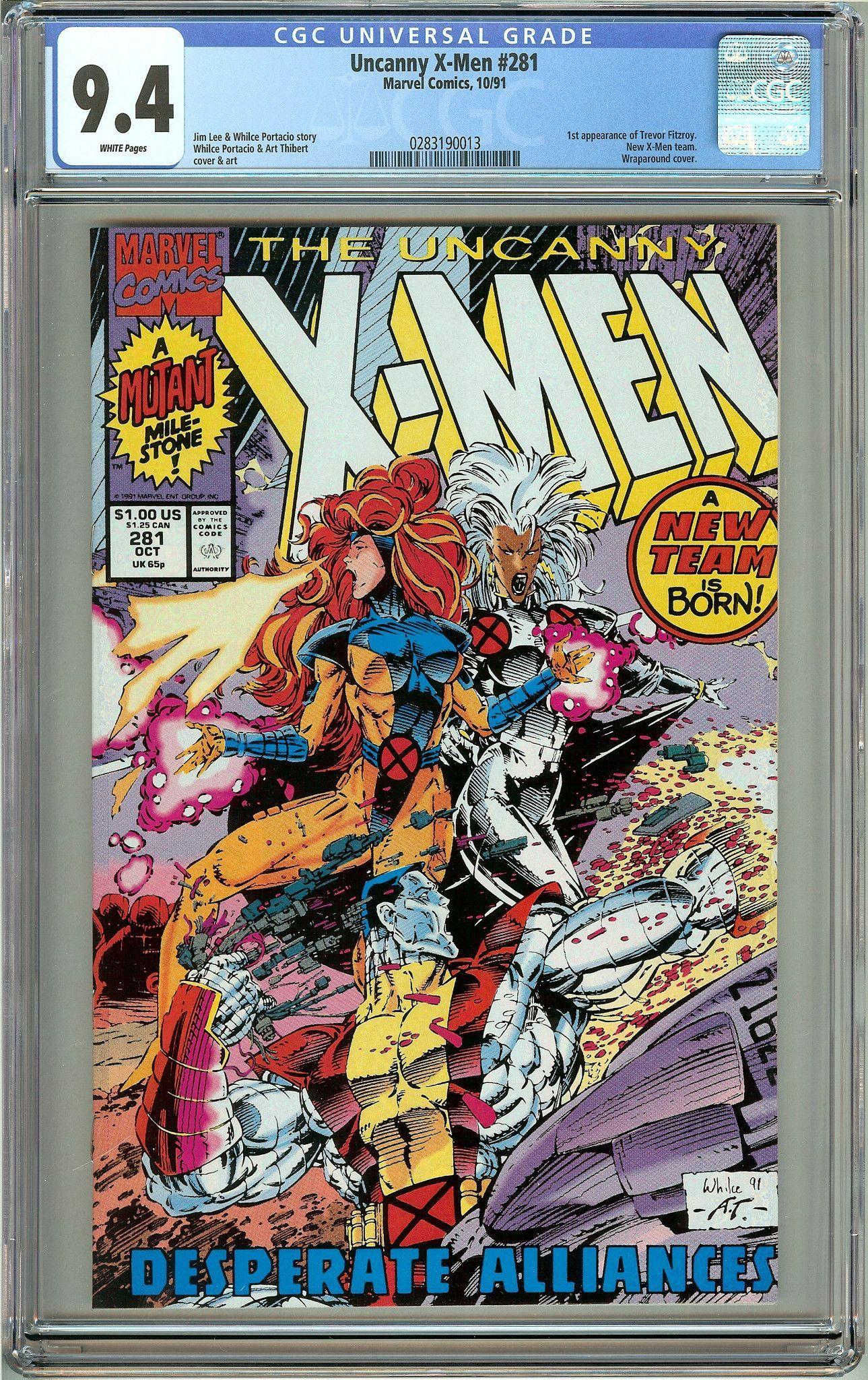 The Uncanny XMen 281 (1991) CGC 9.4 White Pages