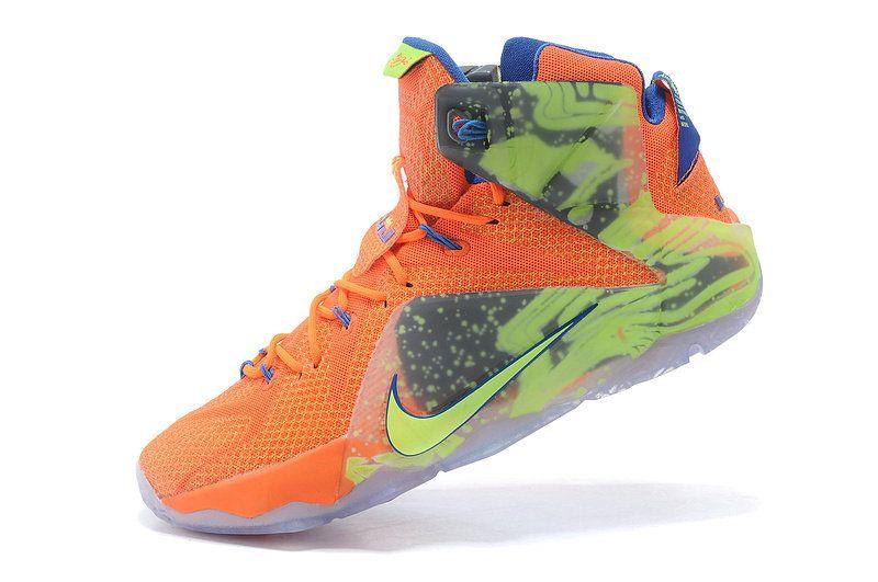 Nike Lebron 12 Six Meridians Generations Orange Game Royal Volt Schuhe