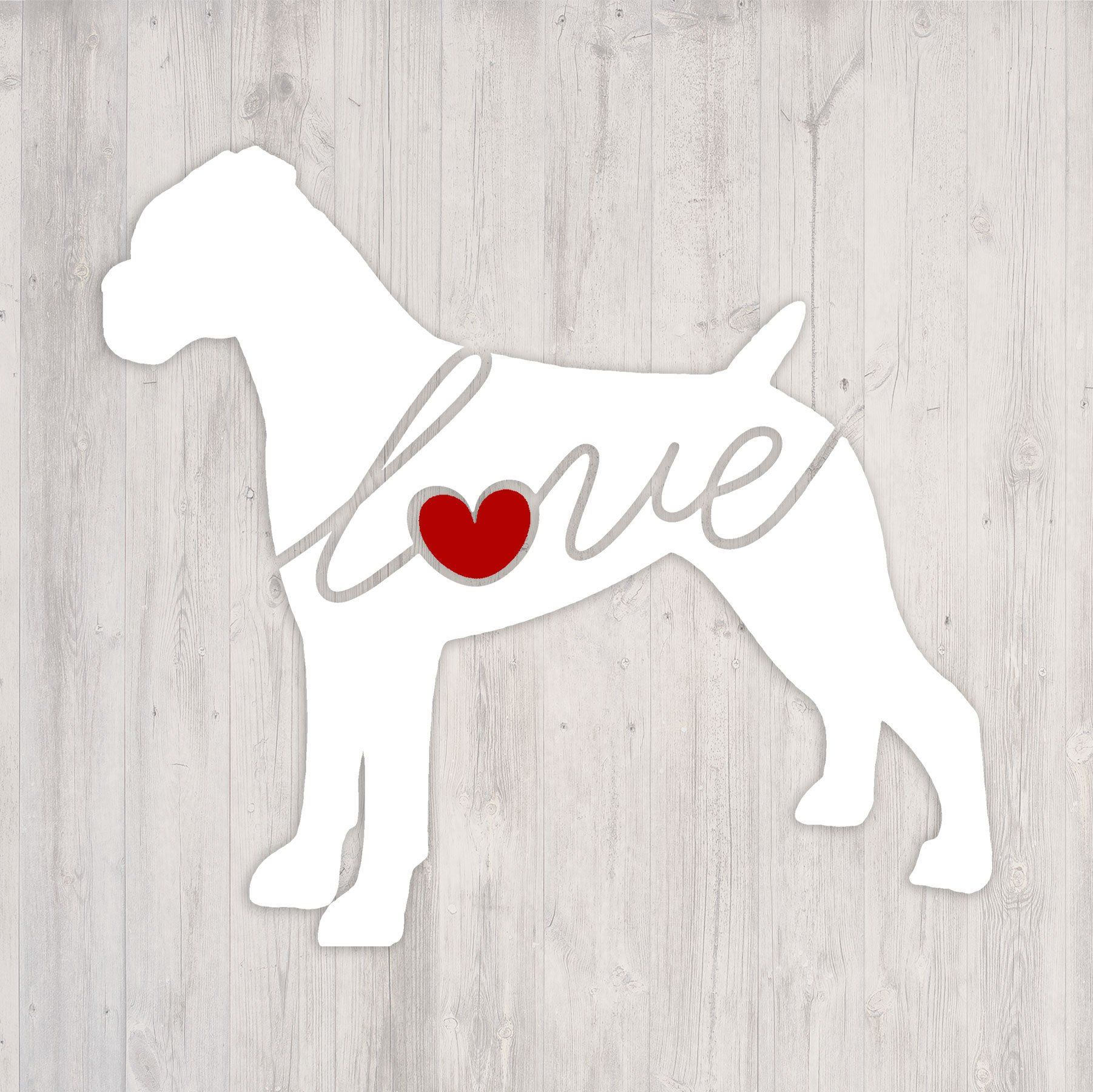 Boxer Love A Car Window Vinyl Decal Laptop Sticker Dog Breed Decals Dog Stickers Cooler Decal Gift For Dog Lover Dog Breed Decal Dog Gifts Mastiffs [ 1800 x 1802 Pixel ]