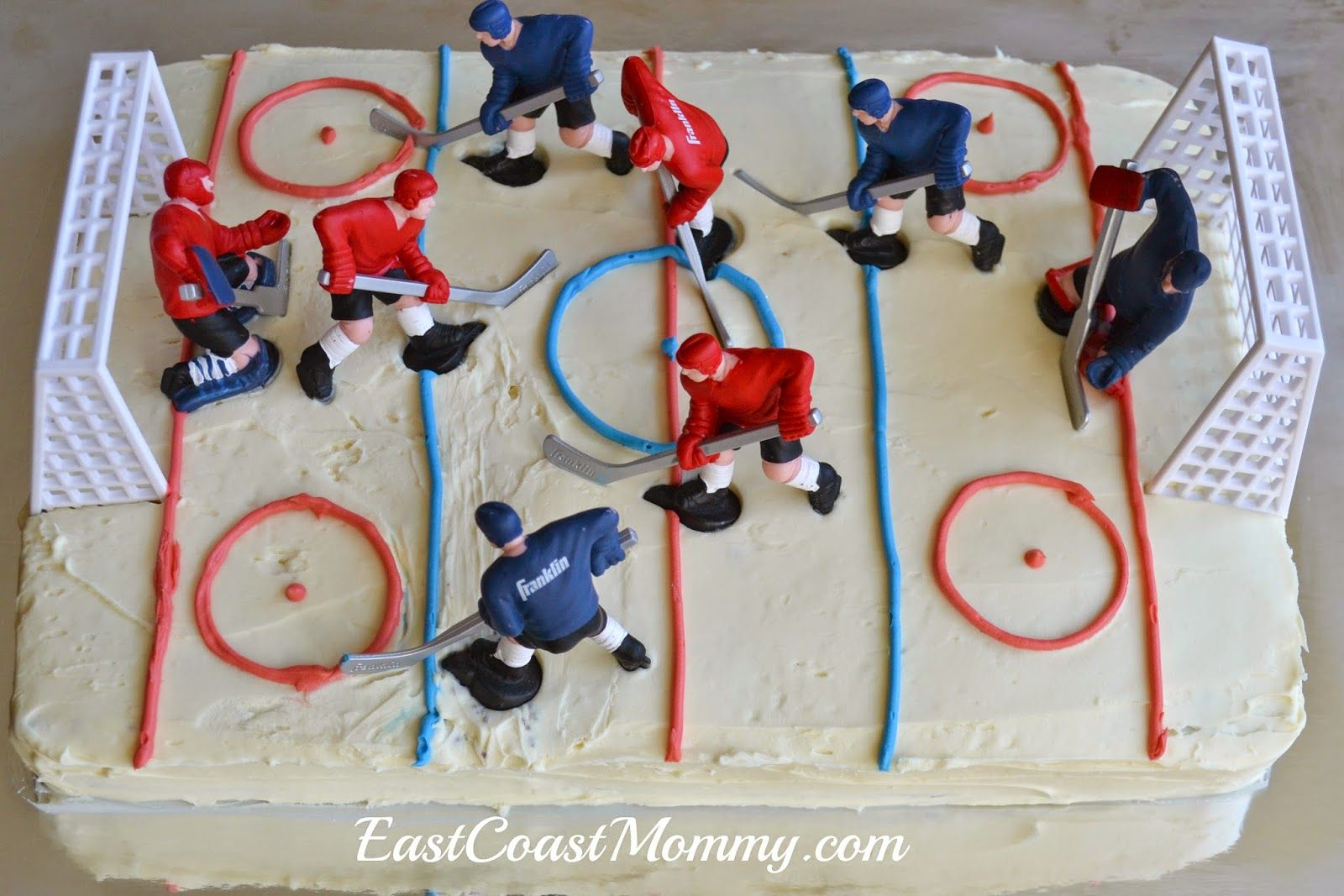Fantastic Simple Diy Hockey Cakes With Images Hockey Cakes Hockey Funny Birthday Cards Online Elaedamsfinfo