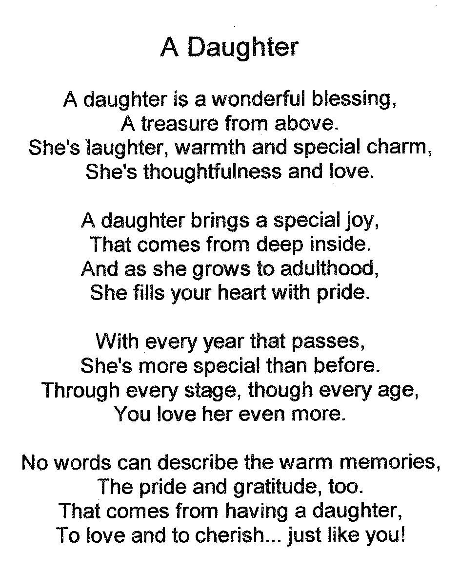 Happy Birthday Baby Girl Poem My Daughter Quotes Daughter