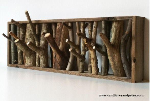 Diy Twig Coat Rack Beautiful And Functional Diy Coat Rack Diy Coat Wood Hooks