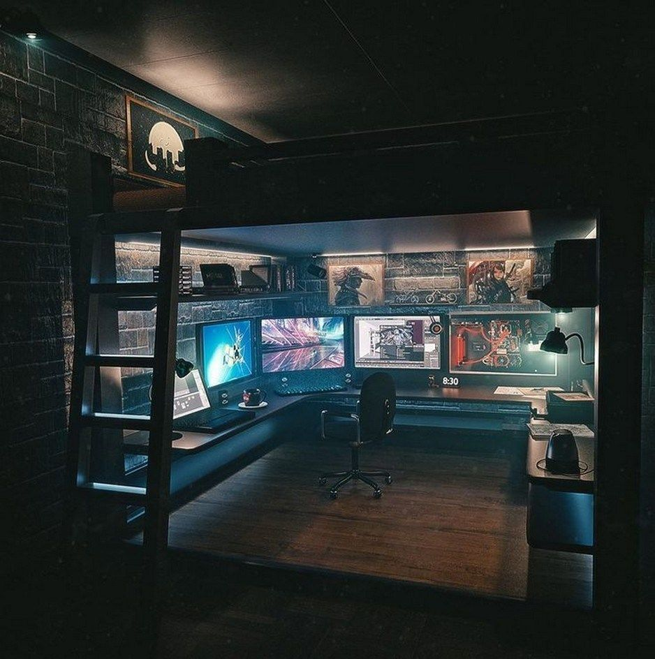 65 Admirable Dorm Room To Create Space Saving Storage Ideas 3 Aacmm Com Game Room Design Video Game Rooms Room Setup