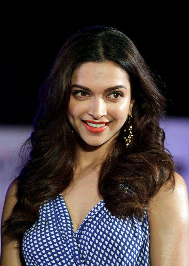 Indian Bollywood actress Deepika Padukone poses during a ...