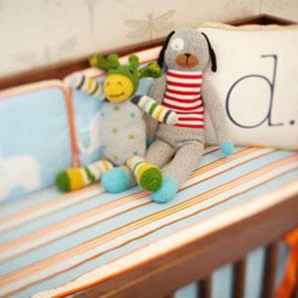 Midcentury Modern Baby Boy Nursery