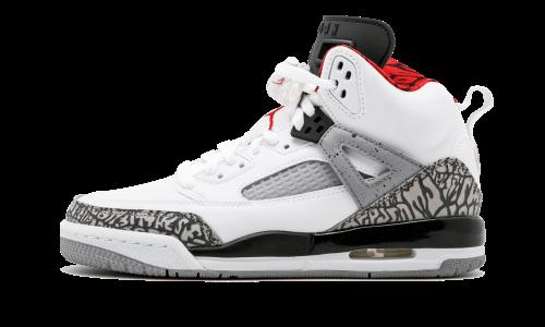 new arrival 1769f 7f2f3 Nike Jordan Kids Jordan Spizike BG White Varsity Red Cement Grey Basketball  Shoe 6 Kids US, Size  6Y