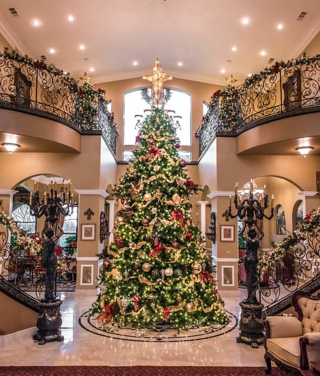 Foyer Goals Christmas Christmastree Foyer Staircase Staircases