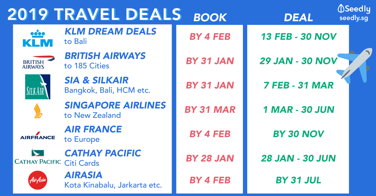 Travel Deals Singapore 2019 Travel deals, Fly travel