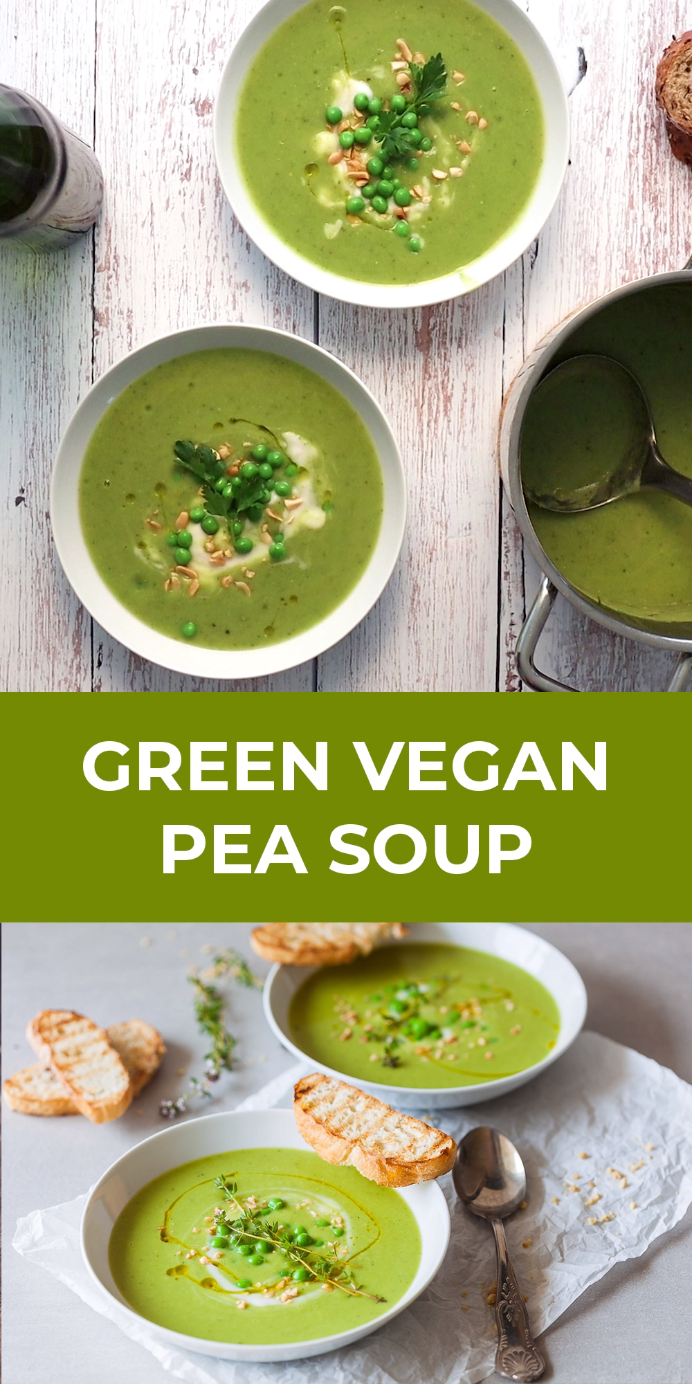 Green Vegan Pea Soup