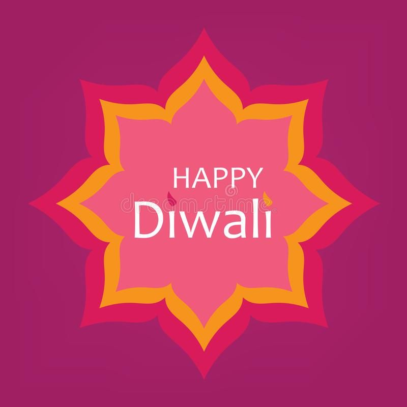 Happy diwali greeting card stock vector. Illustration of india - 123463599