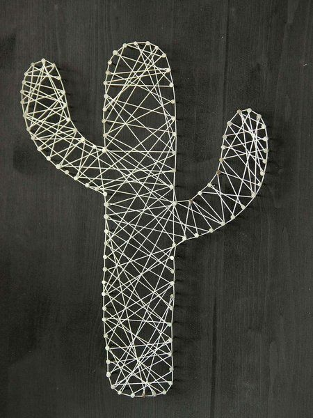 0de20141b Cactus terminado Cuadros Con Hilos, Cuadros De Madera, Adornos De Casa,  Esculturas,