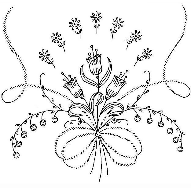 Embroidery Pattern From Bordado Passo A Passo Riscos De Bordado