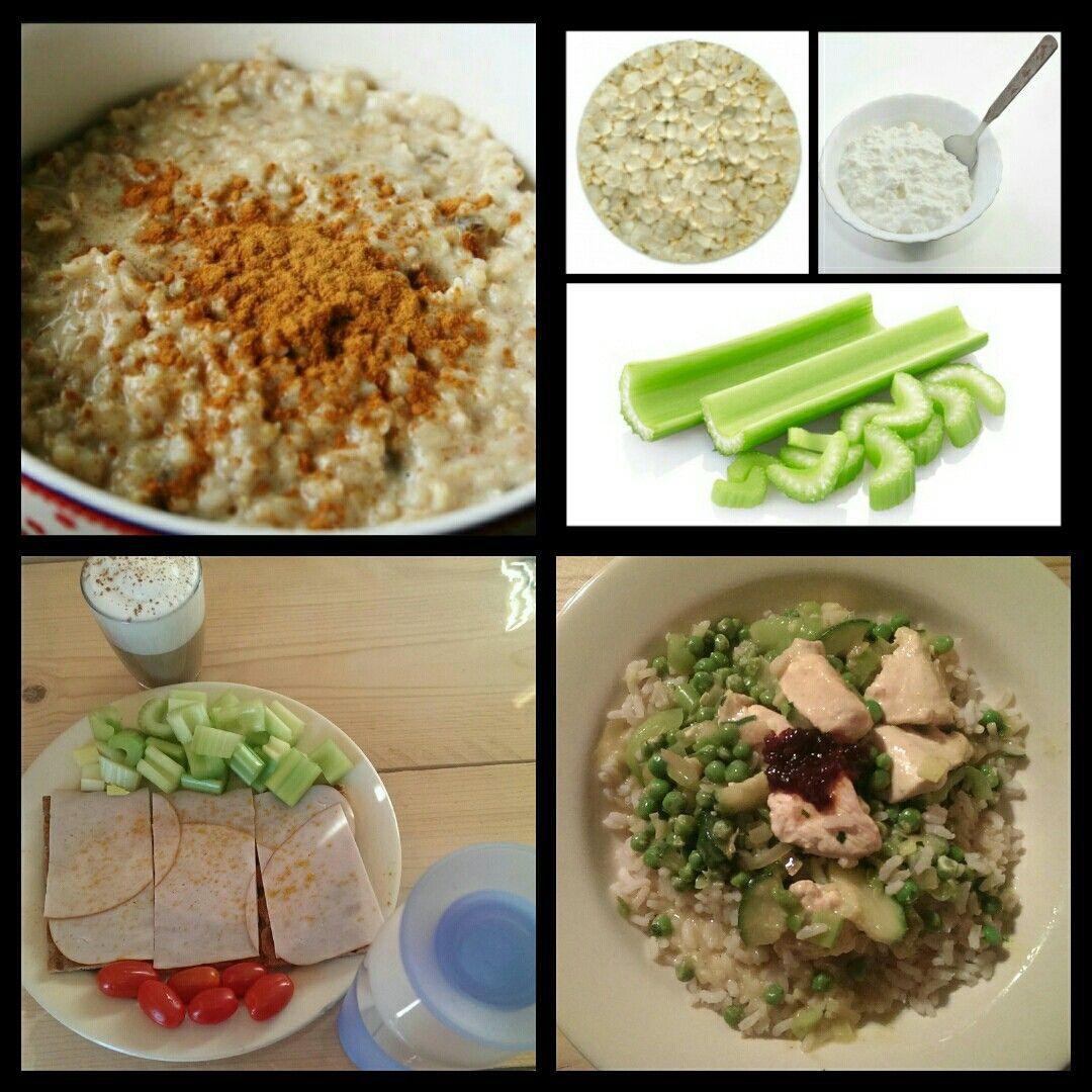 Dag 1: 3 maaltijden 3 tussendoortjes