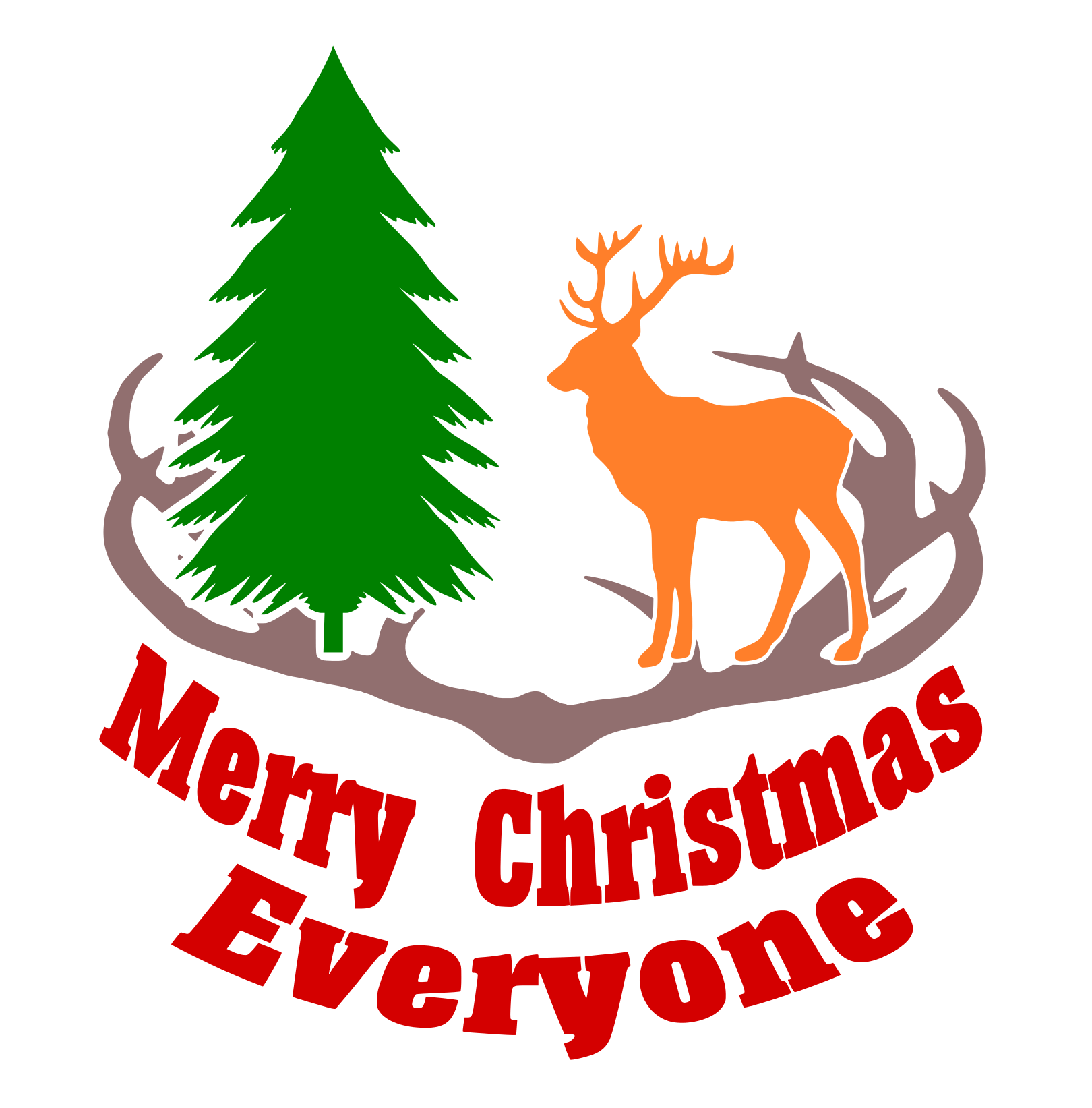 Free Merry Christmas Everyone SVG File Merry christmas