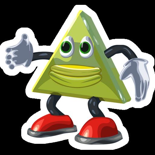Dancing Triangle Meme Sticker Meme Stickers Funny Stickers Memes