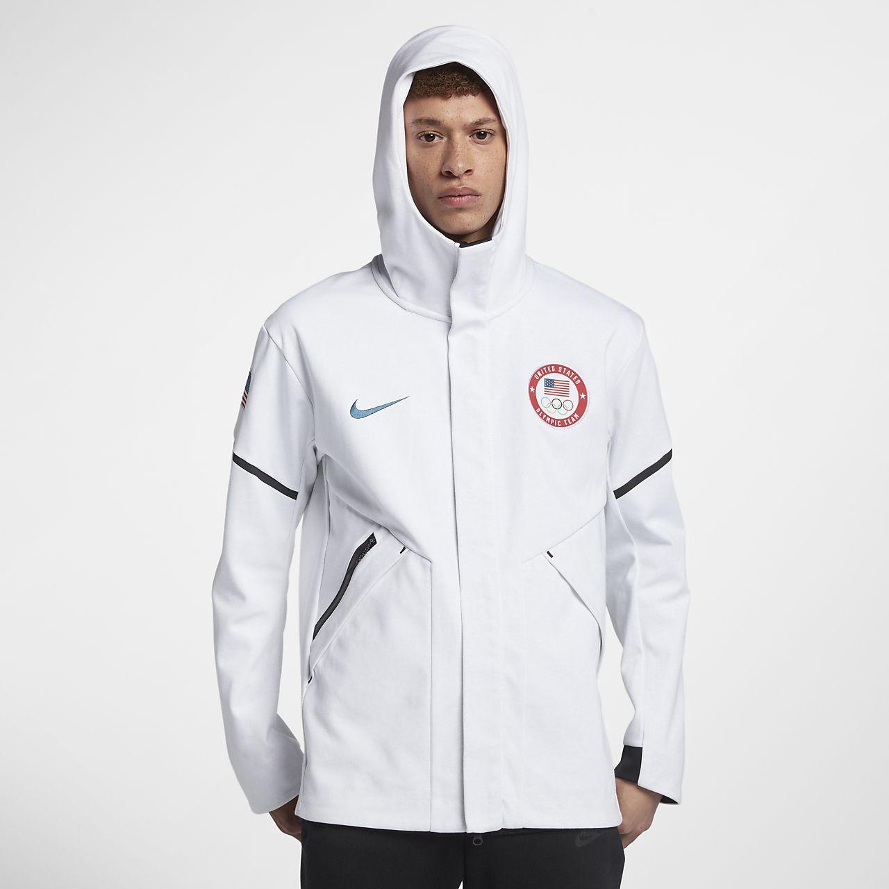 Nike Sportswear Tech Fleece Repel Windrunner Jacket Men Obsidian Heather Black 867658 451 (Medium)