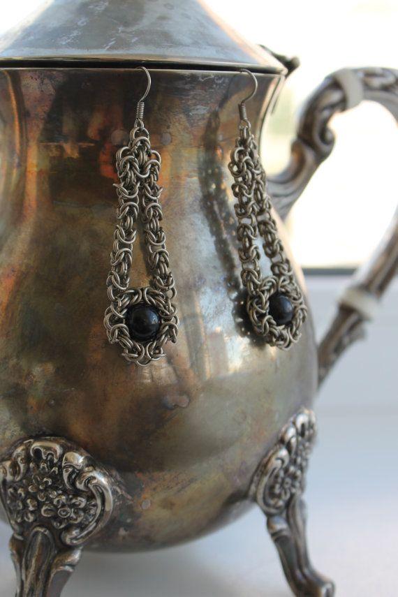 German Silver Black Sphere Charoite Imitation by ArtPoetryShop