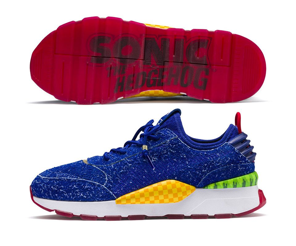 PUMA x SEGA RS 0 Sonic | Blue suede shoes, Sneakers, Blue suede
