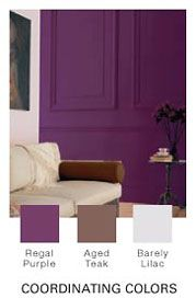 Regal Purple Glidden Paint Living Room Accent