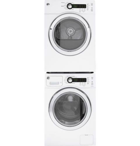 Five Heat Selections On The Ge Capacity Electric Dryer Make For A Highly Customizable Dry Cycl Stackable Washer And Dryer Compact Washer And Dryer Laundry Room
