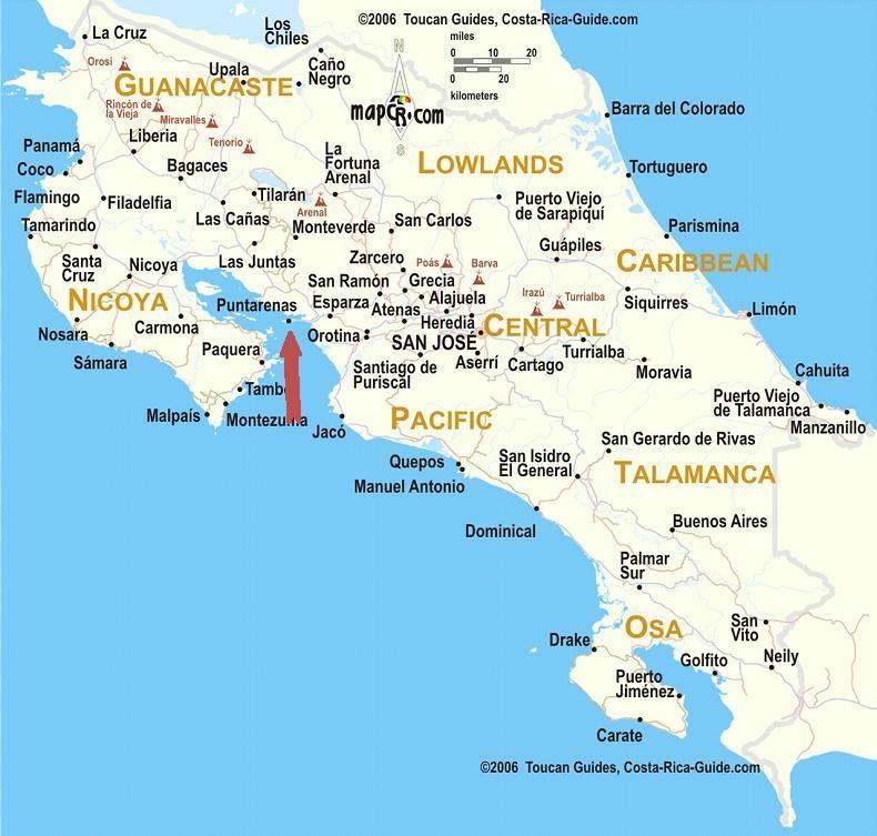 puntarenas costa rica map Puntarenas Driving Directions Getting To Puntarenas From San Jose puntarenas costa rica map