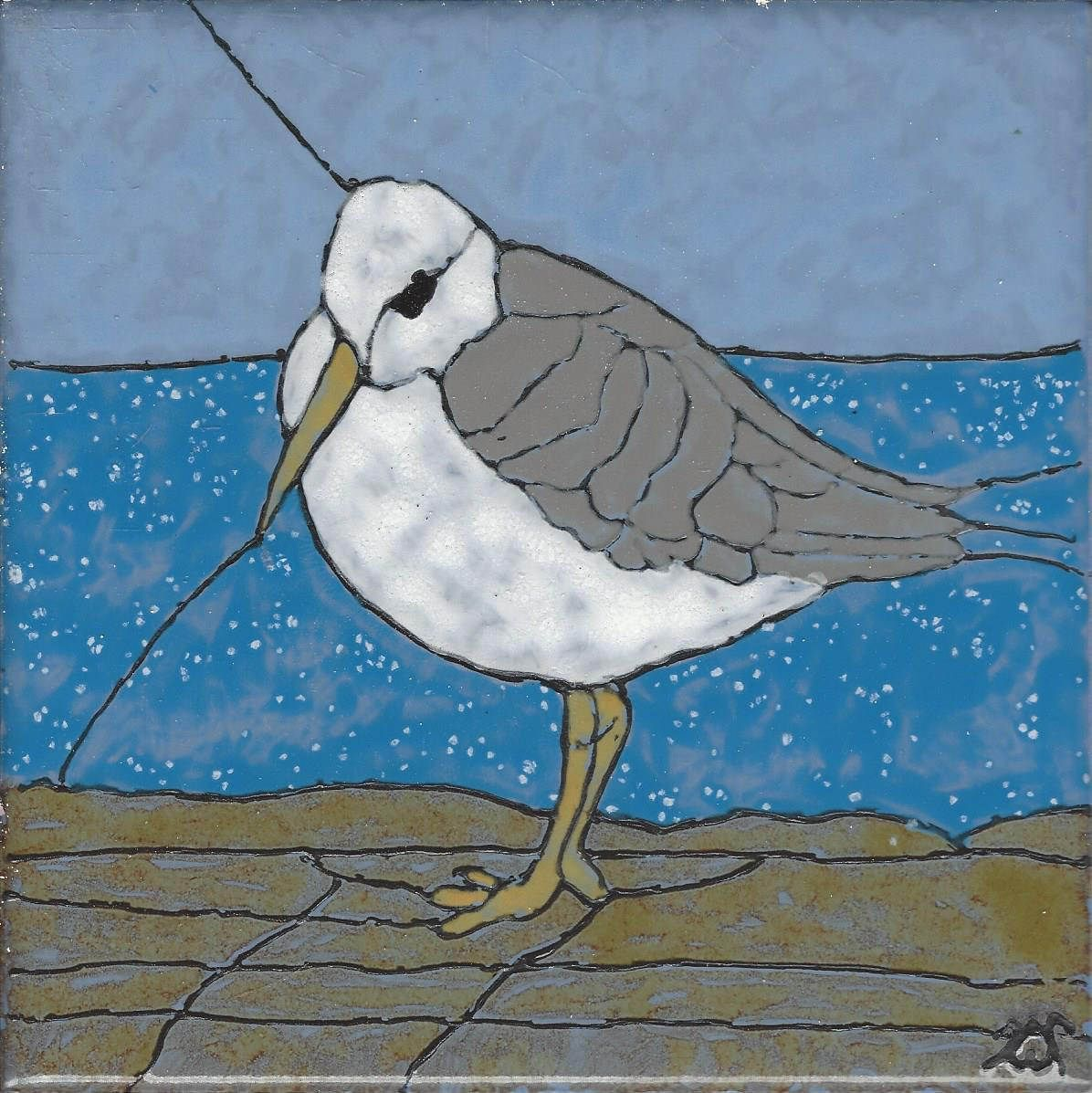 Hand Painted Decorative Ceramic Picture Tiles Amazing Sea Gull 205 Hand Painted Kiln Fired Decorative Ceramic Wall Art Decorating Inspiration