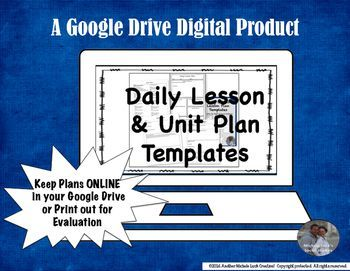 Lesson  Unit Plan Google Drive Templates For Middle Or High
