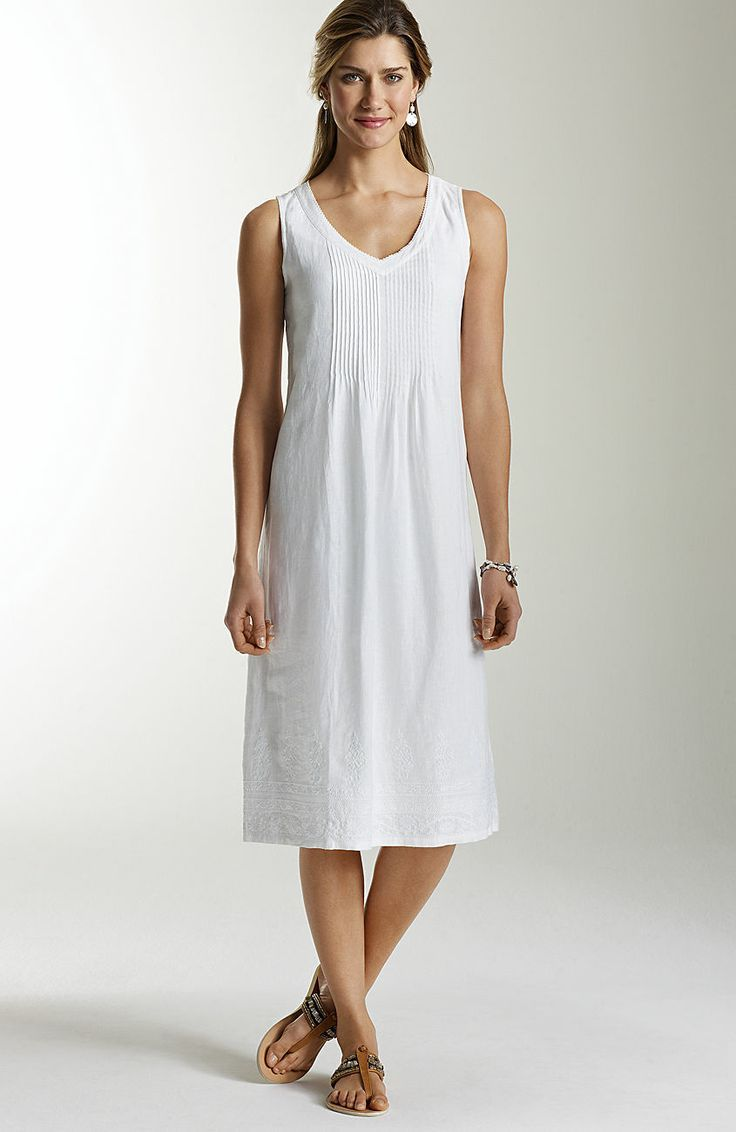 j jill white linen dress images Google Search | Dresses