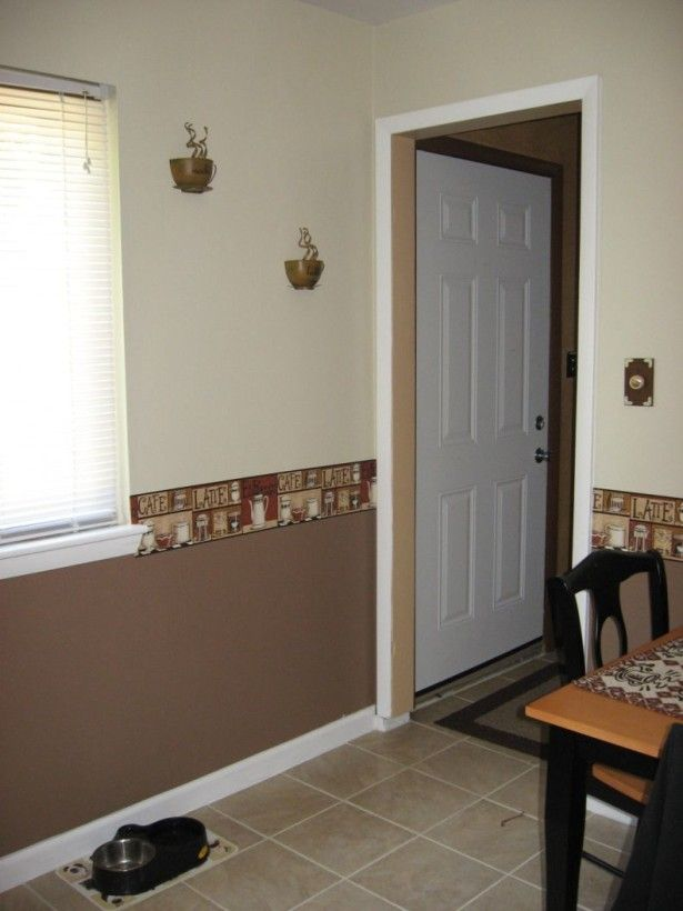 How To Pull Off Two Toned Walls Beige Two Tone Kitchen Wall