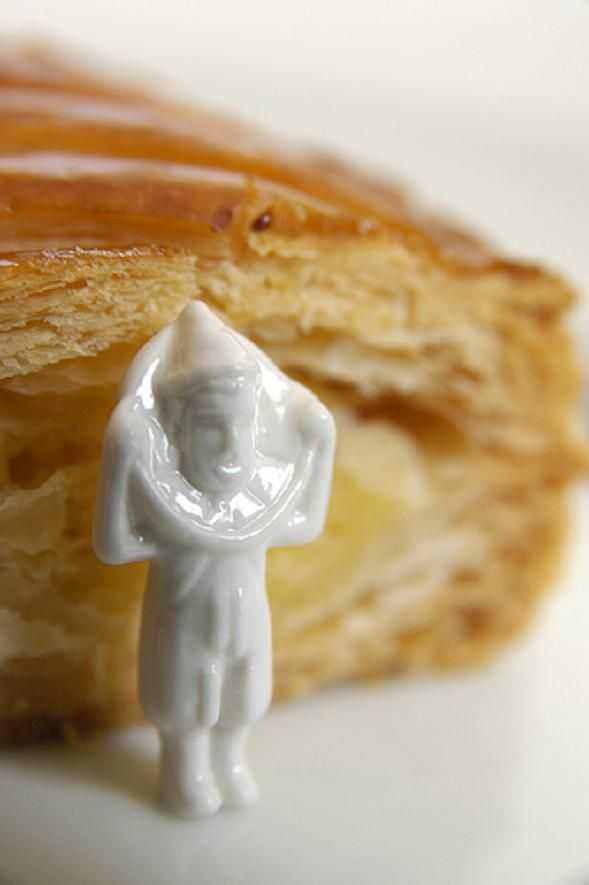 A fève to bake in a Galette des Rois (King's Cake, Twelfth Cake)