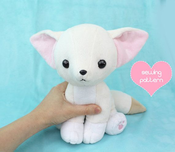 PDF sewing pattern - Baby Fennec Fox stuffed animal with video ...