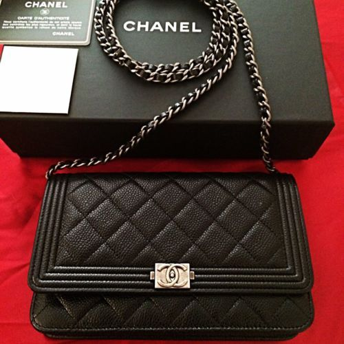 4a1b39d58fe6 16 of 21 things  Chanel Le Boy WOC Caviar Quilted Bag with silver hardware.  Chanel do another model called  Le Boy  which is the boxier style