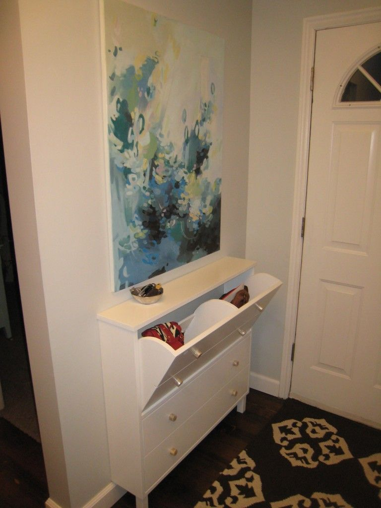 The Cupboard Opens For Purse Storage, Cell Phones, And The Bowl On The  Cabinet