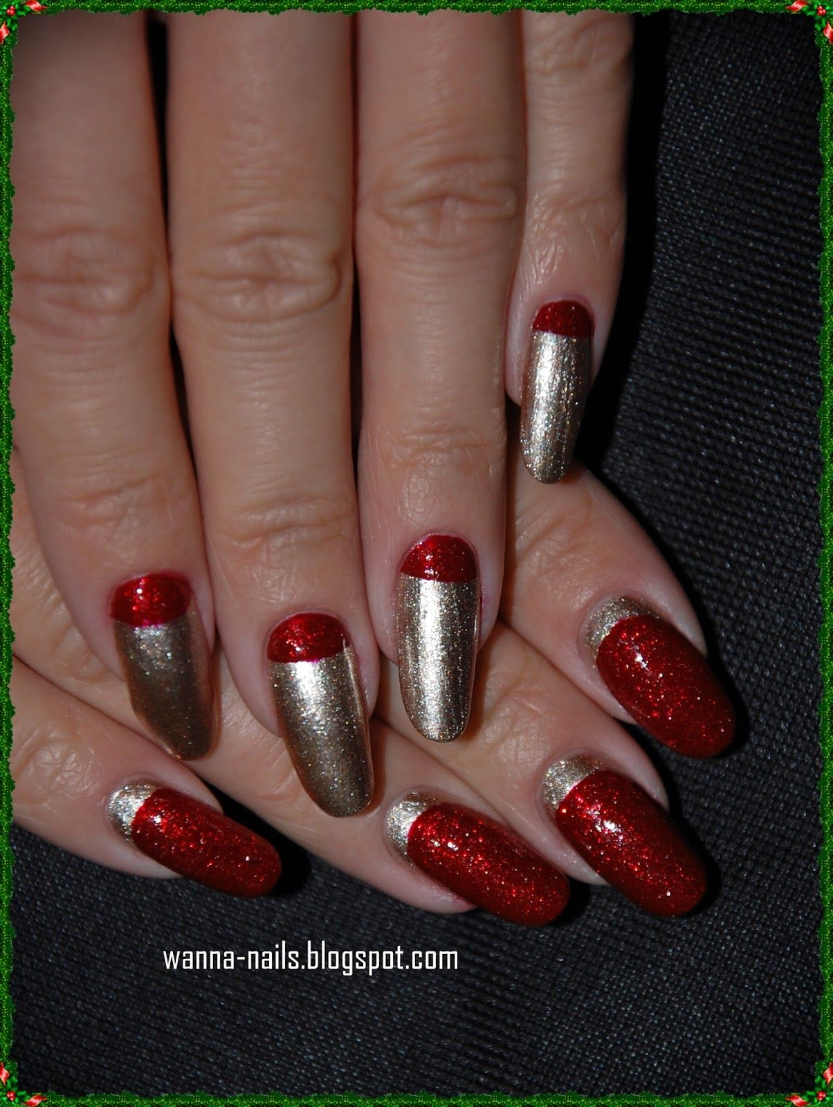 Red and gold ~ Wanna See My Nails ?