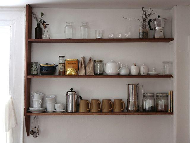kitchen shelf by reading my tea leaves, via Flickr