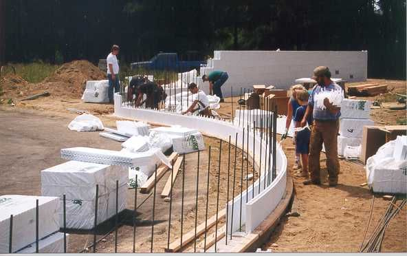 Insulated concrete forms icf construction detail photos for Foam concrete forms cost