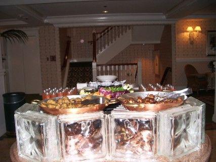 Main Buffet Table Glass Blocks Buffet And Glass