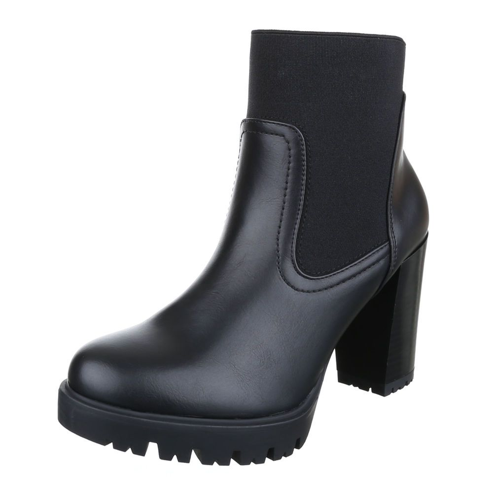 Blockabsatz Stiefeletten Schuhe Synthetik Kunstleder Gr 38 mjRxPQ9xbi