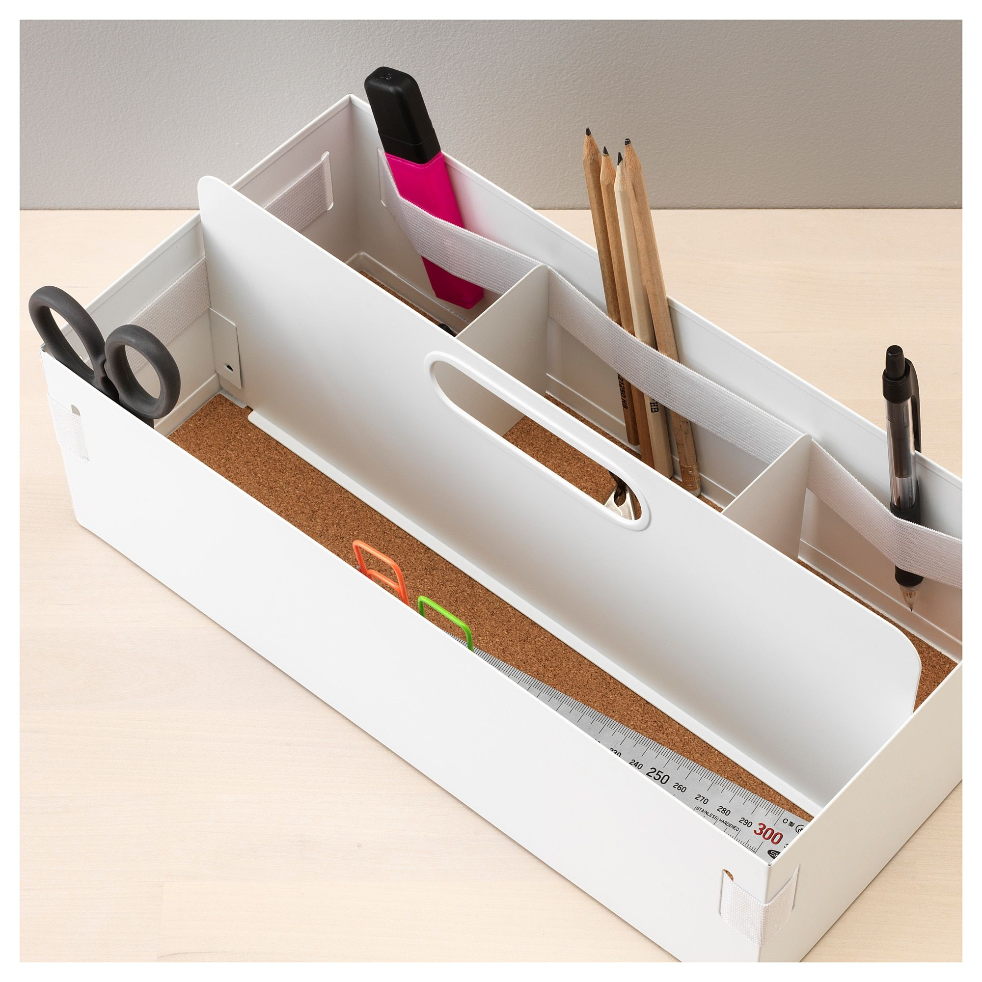 Kvissle Desk Organizer 7x14 X5 Ikea Desk Organization Ikea Desk Organization Stationery Organization