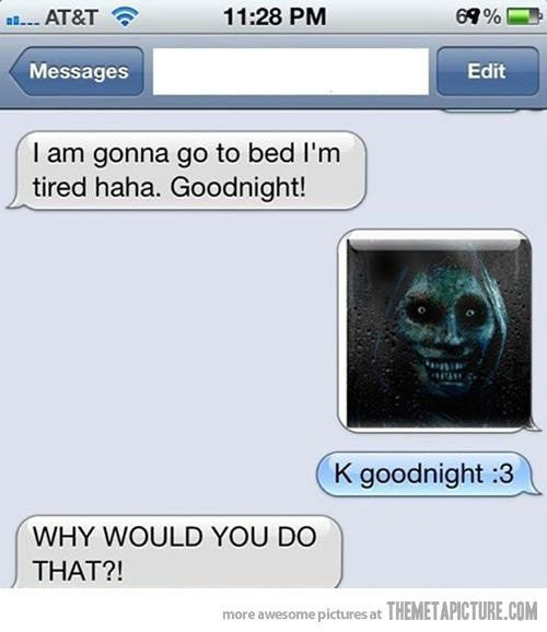 funny scary face text message on imgfave just for fun