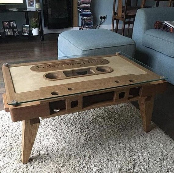 Wooden Retro Cette Type Style Coffee Table With Gl For Living Room Or Dining