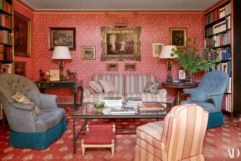 Tom Parr's French Riviera Paradise is part of French Traditional Living Room - Tom Parr Sybil Colefax John Fowler French Riviera Cote d'Azure villa Anthony Lindsay, Lord Balniel Lady English Country Style Interior Design