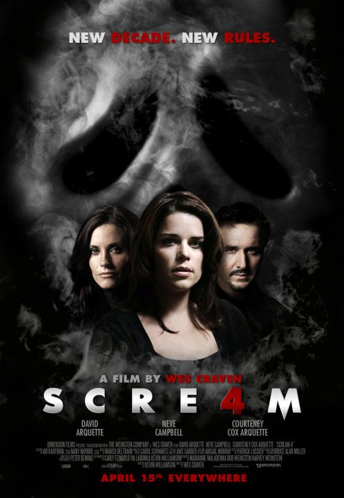 The Latest Poster From Scream 4 Horror Movies 2010 Scream Movie Horror Movies