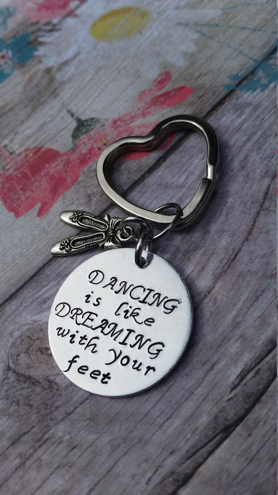 Slippers Personalized FREE Dance Teacher BALLET Instructor Keychain Gift
