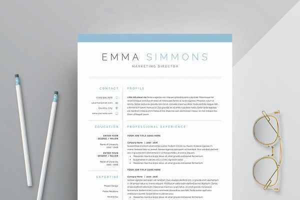 Word Resume  Cover Letter Template - Resumes - 1 Resumes