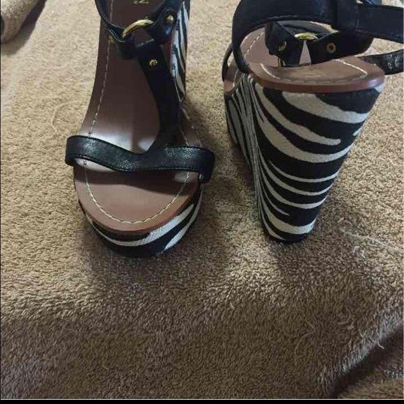 Ralph Lauren Wedges Lauren Ralph Lauren Zebra wedge heels Brand new Ralph Lauren Shoes Wedges