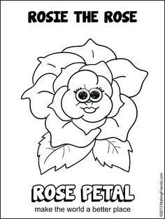 Girl Scout Daisy Rosie The Rose Coloring Pages