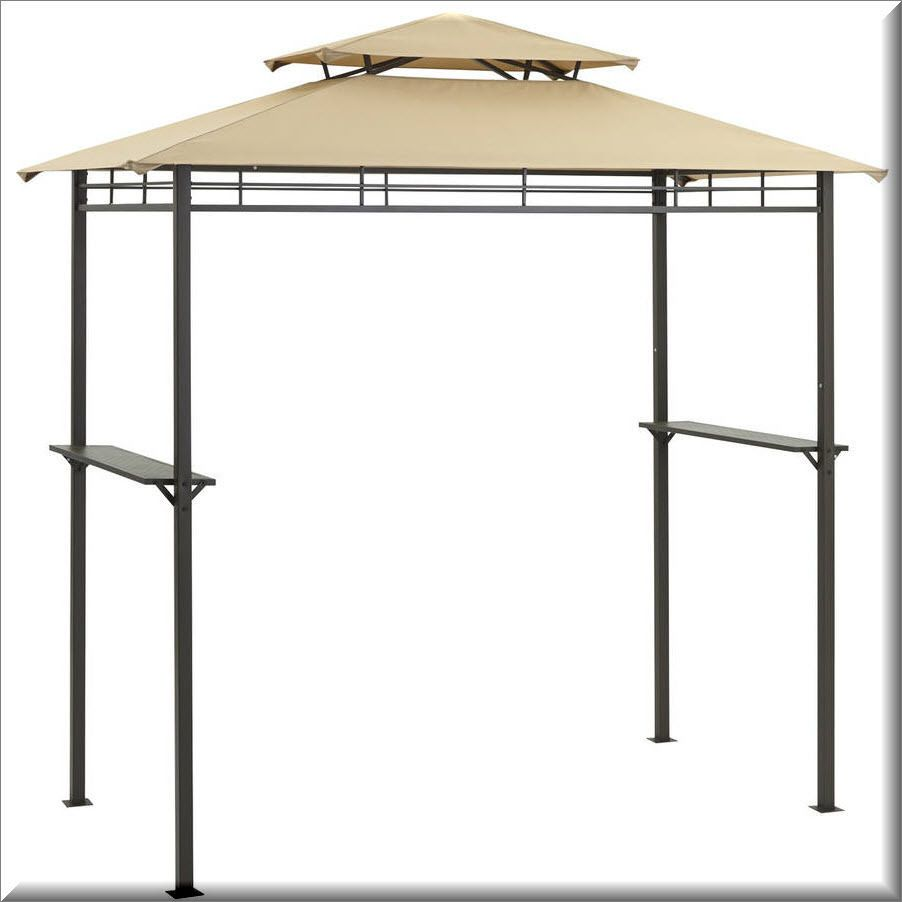 Outdoor Grill Gazebo Patio Canopy Shelter Steel Light Brown Shade Fireproof Outdoorgrillgazebo Us 188 85 With Images Grill Gazebo Bbq Gazebo Gazebo