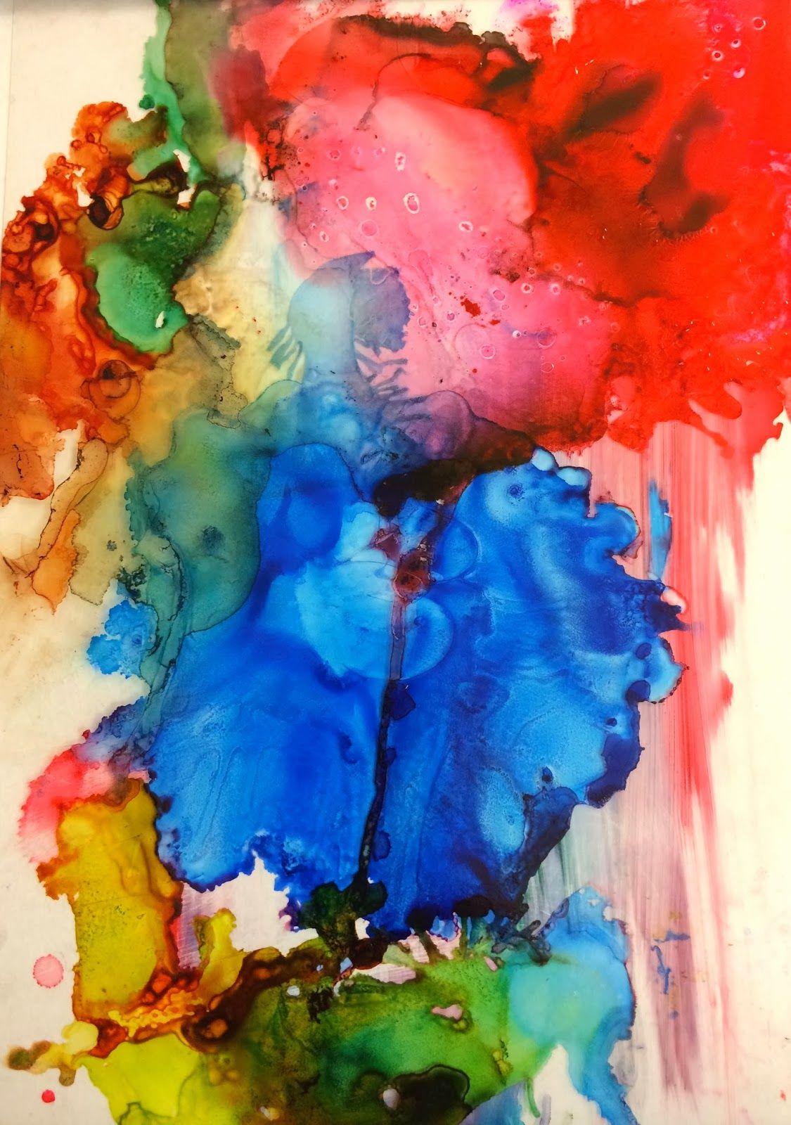 Cool Project On Abstract Composition Using Alcohol Ink And